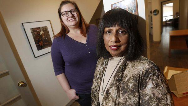 Aruna Hall (R) and Kate Schellenberg
